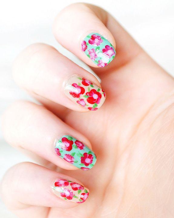 12 Fabulously Floral Nail Ideas: Floral Nail Art, Floral Nails, Nail Polish, Nailart, Beauty, Nail Design, Nail Ideas, Flower