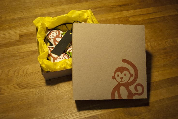Handmade gift box for the Aasian apinat mobile.