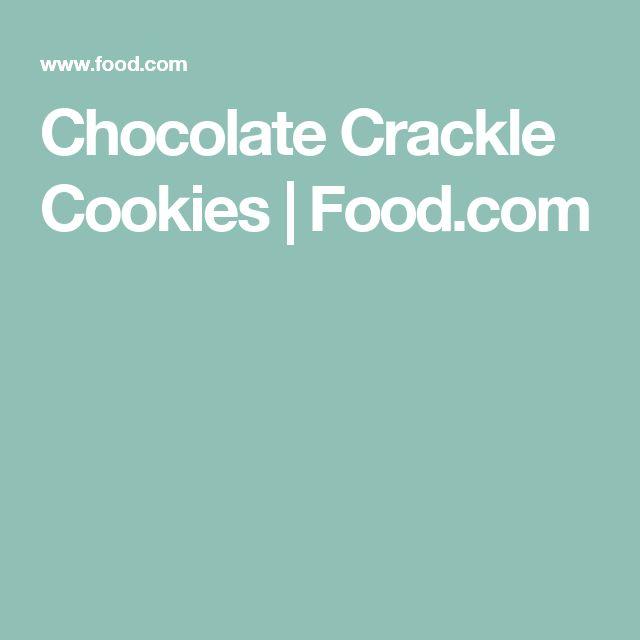 Chocolate Crackle Cookies | Food.com