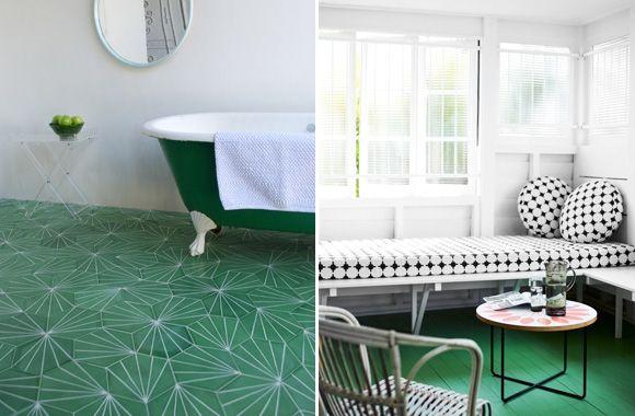 carrelage sol vert carrelage motif vert
