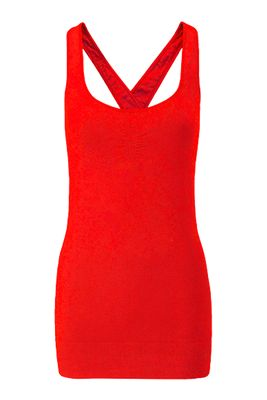 Wellicious Align yoga top - poppy red - $124.95 - This tank will not only take you to yoga, it may also become a staple go-to piece in your wardrobe.  #fireandshine #ethical #wellicious #yoga #fashion #activewear #loungewear #barre #hiit #circuit #getthelook #style