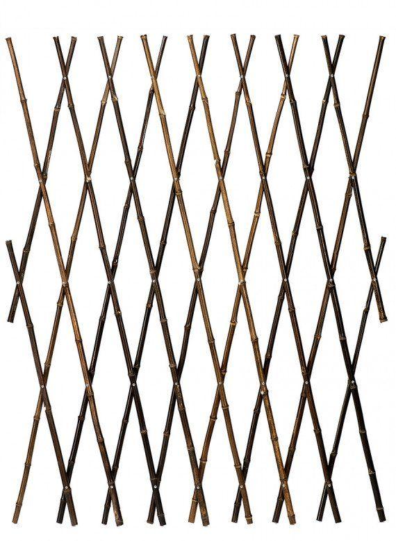 4 x 6ft Black Bamboo Expanding Trellis