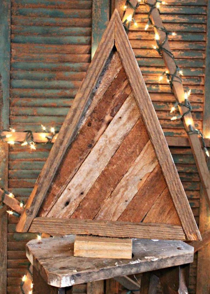 Bricolage de Noël en bois de récupération- 20 projets faciles pour adultes