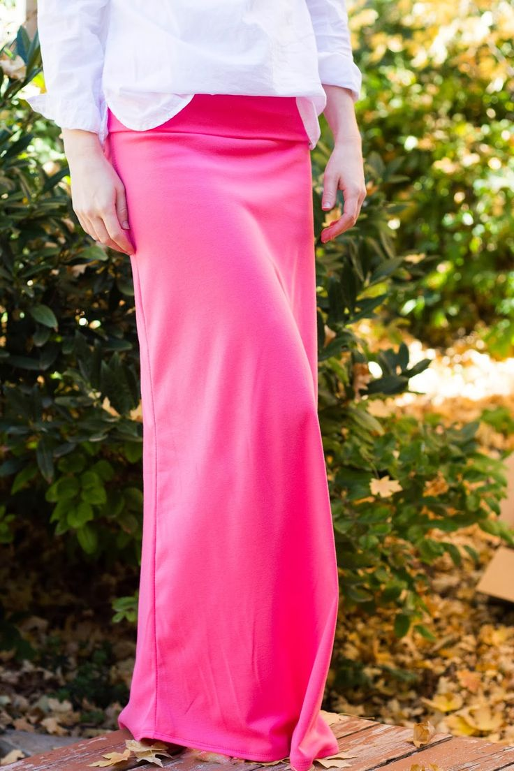 do it yourself divas: DIY Maxi Skirt with Yoga Waist Band