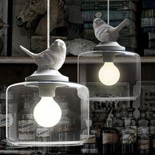 Kind Echte Cartoon Hanglamp Mode Slaapkamer Bedlampje Korte Rustieke Verlichting Lampen Met Witte Hars Vogel(China (Mainland))