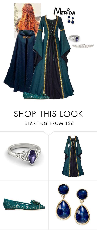 """Disney Renaissance Princess - Merida"" by briony-jae ❤ liked on Polyvore featuring Dolce&Gabbana, Lauren Ralph Lauren and Natasha"