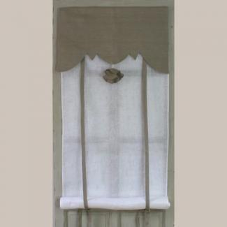 Store Blanc et Lin Largeur 45cm Aux Cotonnades de Mathilde.