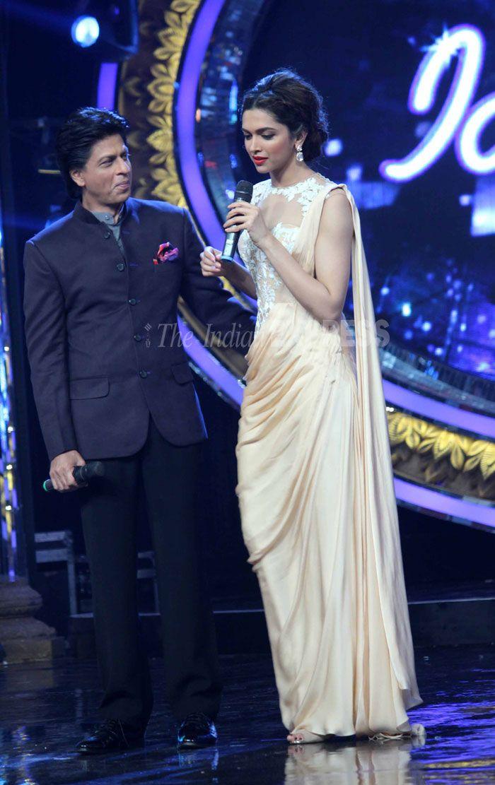 Deepika and Shahrukh at Indian Idol Junior | Veethi