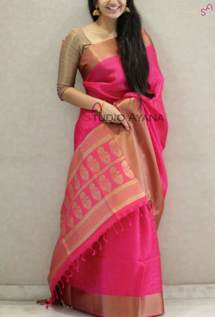 Best 25+ Pink Saree Ideas Only On Pinterest