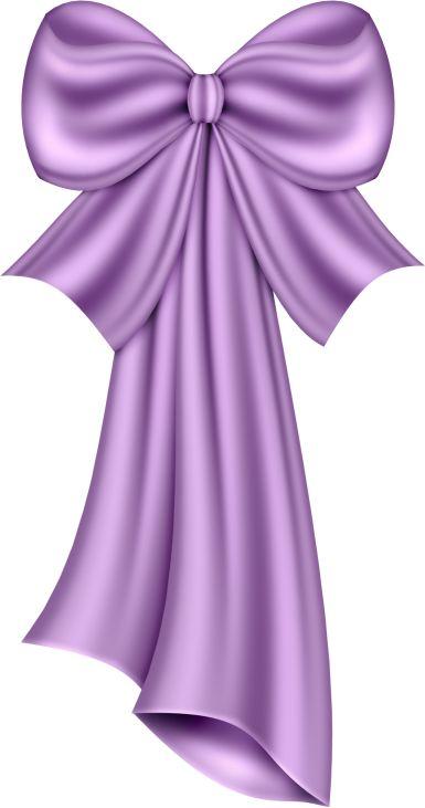 Large Violet Bow Clipart