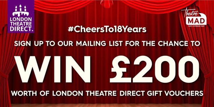 Win £200 of London Theatre Direct vouchers:   http://woobox.com/gboh3q/j51l3f
