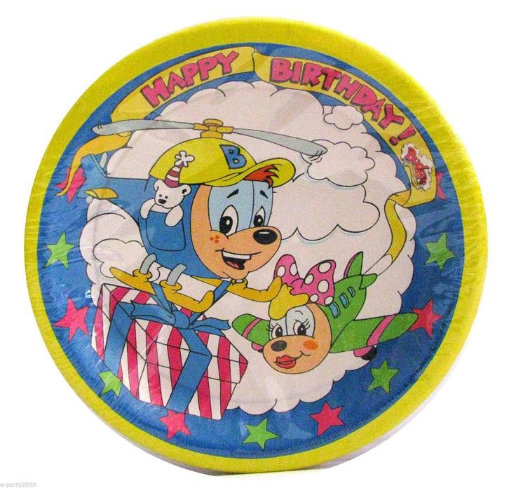 Budgie The Little Helicopter Birthday Party Plates 8 Count #Unknown #BirthdayChild