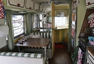 Dont want mine to necessarily be more retro than it already is but some updating is a good idea. Retro Camper Makeover theteacupincident... #airstream #makeover #interior #dining #retro #vintage