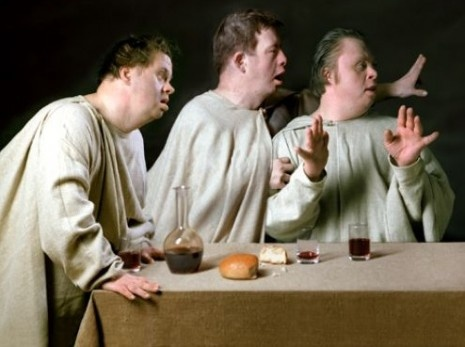 Russian photographer Raoef Mamedov's controversial re-imagining of Leonardo's Last Supper with models who have Down syndrome.
