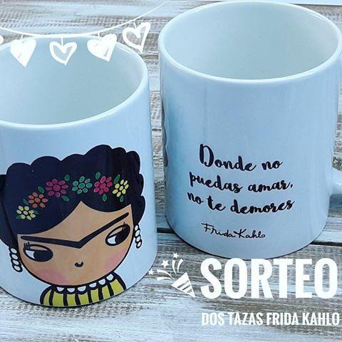 🎊🎊SORTEEO 🎊🎊 🌟 Tazas Frida Kahlo 🌟 Participa y llevate dos tazitas para acompañar este frio con ondaa!! Segui estos pasos: ♡ Dale me gusta la imagen!!! ♡ Seguinos!!! ♡ Comenta etiquetando a un amig@ No te olvidees ningun paso!!!😊😃😃 Sortea 10/6 Buena suerteeee!!!! 💓💓💓