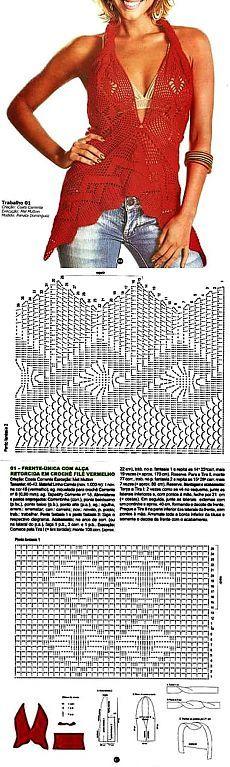 Vară de top de tricotat spinare