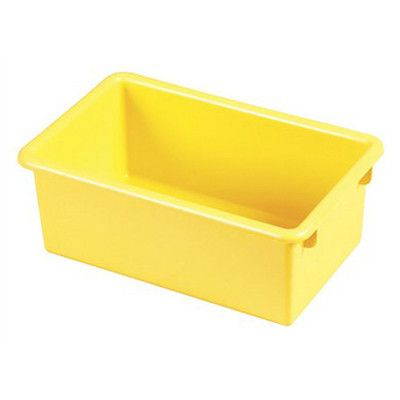 offex stack and plastic storage totes color yellow
