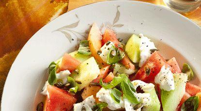 Meloensalade met mozzarella - Foodies