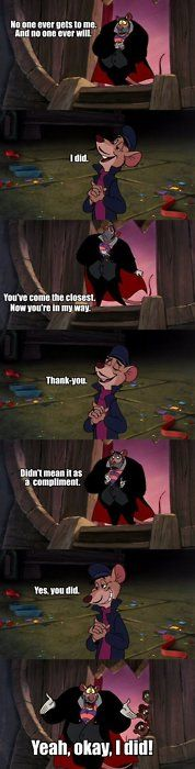 Sherlock/Great Mouse Detective Their faces are perfect in this, lol