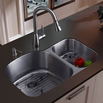 #LGLimitlessdesign  #Contest Double sided under mount sink to go with my new granite in my new kitchen.   I'll take the faucet and soap dispenser to boot. - Google search