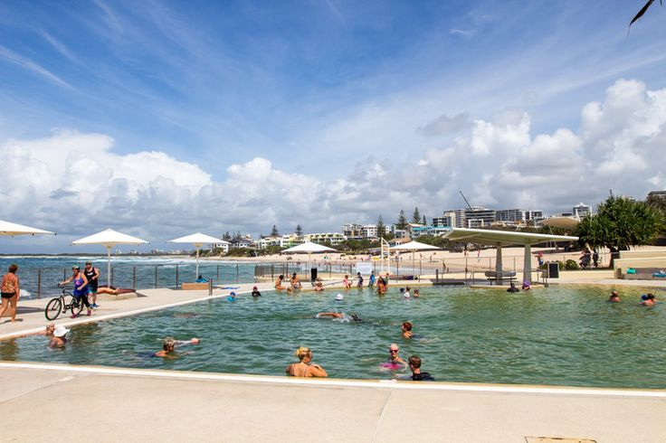 Kings Beach in Caloundra on the Sunshine Coast of Queensland, Australia