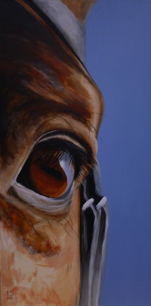 Equine art, for sale - CATCHING THE LIGHT - 50 x 100 cm - acrylic on canvas