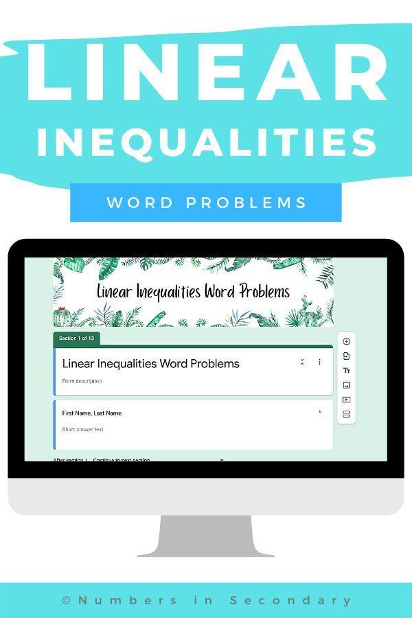 Linear Inequalities Word Problems Worksheet In 2021 Word Problem Worksheets Inequality Word Problems Word Problems