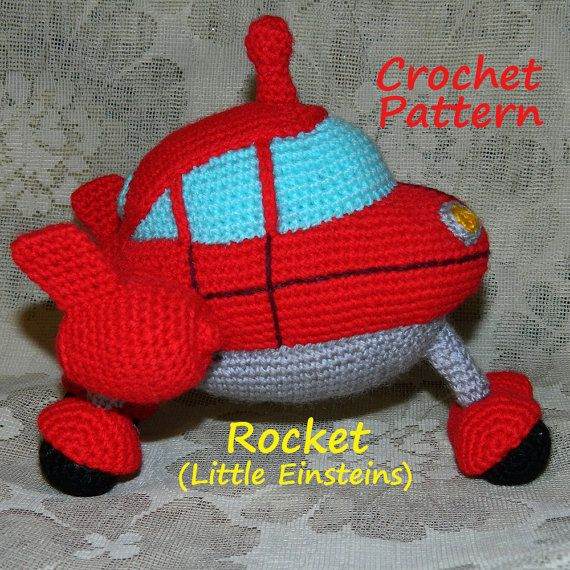 Crochet Pattern. Rocket Little Einsteins by InspiredCrochetToys