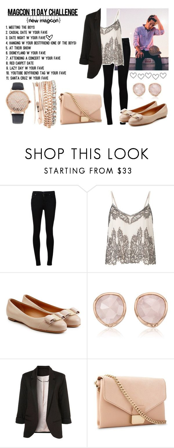 """""""Magcon 11day challenge: Date night w/Cameron Dallas"""" by hola-hi ❤ liked on Polyvore featuring Citizens of Humanity, Miss Selfridge, Salvatore Ferragamo, Monica Vinader, Whistles, Jessica Carlyle, DateNight, challenge, CameronDallas and magcon"""