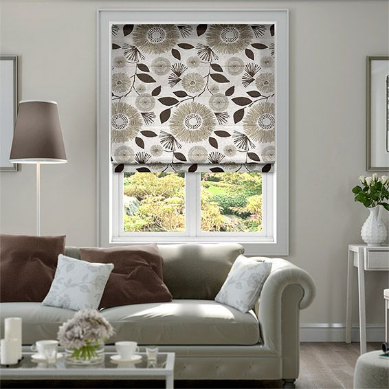 Melody Earth Brown Roman Blind