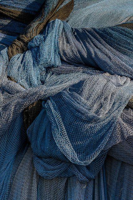 dusk blue/berry Janet Little Jeffers: Fishing nets on the island of Heimaey, Westman Islands, Iceland.