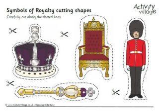 Symbols of Royalty Cutting Shapes
