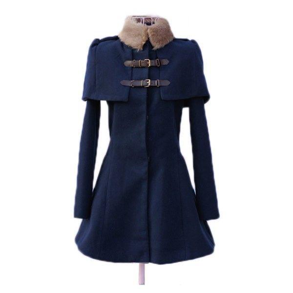 Schöner blauer Mantel