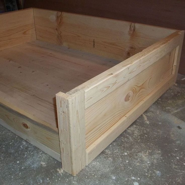 DIY Large Wooden Dog Bed...I would add wheels so I can move it easier and do it a diff color