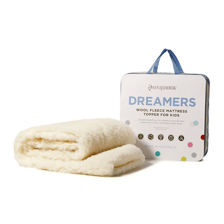 MiniJumbuk Dreamers Wool Fleece Mattress Topper for kids provides extra support and a more comfortable nights sleep. It's the natural choice for children.