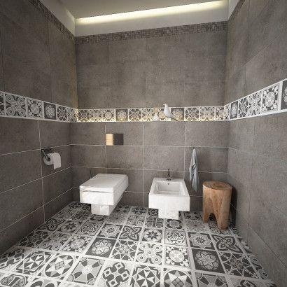 Grey Scale Floor Tile Decals (Pack of 16)