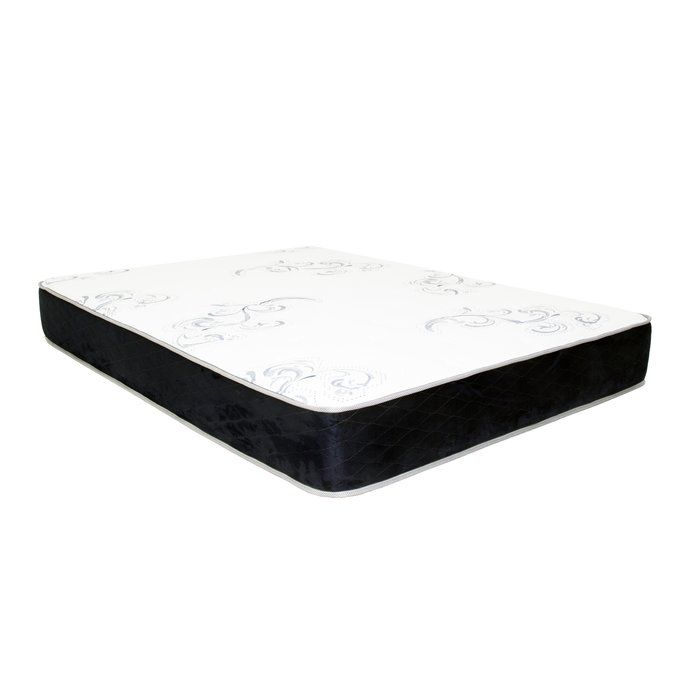 "The 10"" plush top memory foam mattress features 3"" of advanced cooling viscoelastic foam called Actiflex. Actiflex provides a new energetic alternative to conventional memory foam but yet retains all the benefits of visco foam without the slow recovery. It is a highly open, cool, and responsive polymer structure is designed to offer a superior alternative to latex and springs while providing outstanding pressure relief properties. This mattress offers an unparalleled combination of ..."