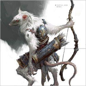 Skaven, white rat archer. Conheça as concepts do artista Yang Qi