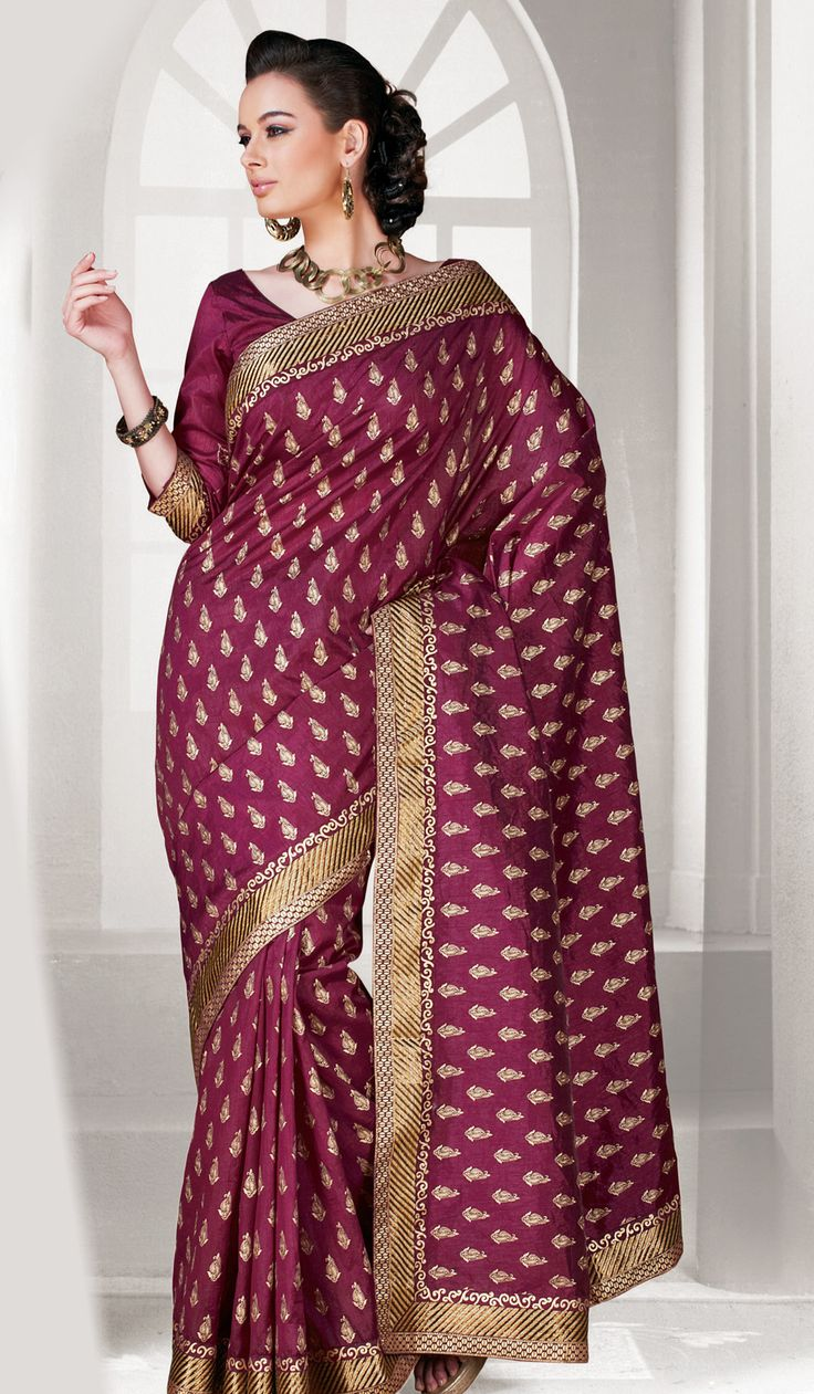 Maroon #Designer Sari Online #USA  Check out this page now :-http://www.ethnicwholesaler.com/sarees-saris
