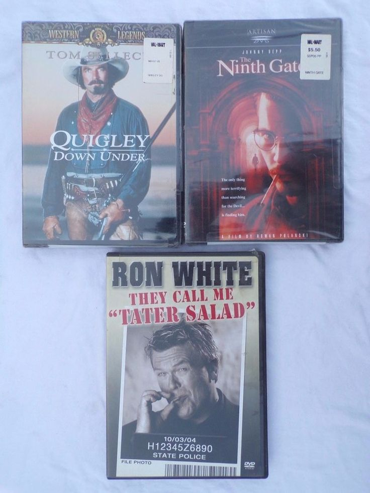"""Quigley Down Under - New, The Ninth Gate - New  & Ron White - """"Tater Salad"""" Used #MGMArtisanImage"""