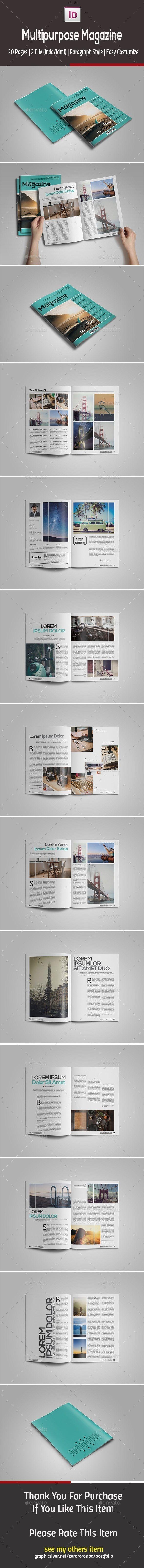 Multipurpose Magazine Design Tempalte #journal Download: http://graphicriver.net/item/multipurpose-magazine-template/12943696?ref=ksioks