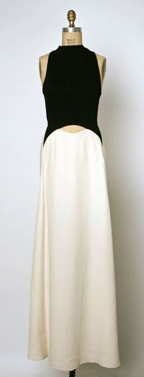 utter simplicity - dress by Geoffrey Beene, 1992, USA (shewhoworshipscarlin)