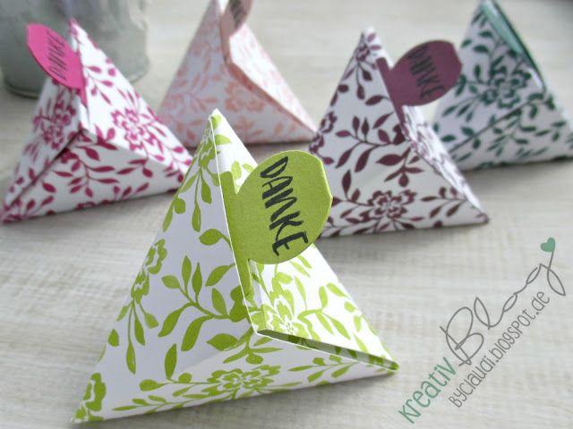 Origami Resteverwertung (Kreativ Blog by Claudi)