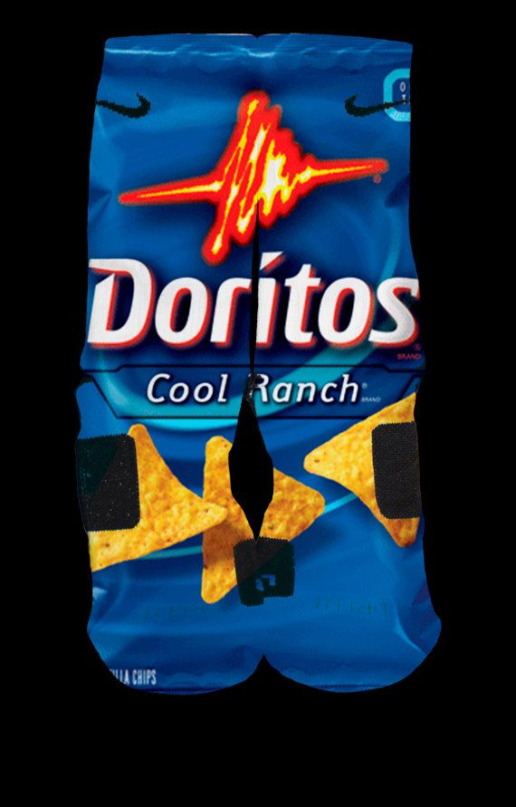 Doritos Custom Nike Elite Socks by EliteHeadquarters on Etsy, $27.99 At first I thought these really were Doritos. Now I'm hungry.