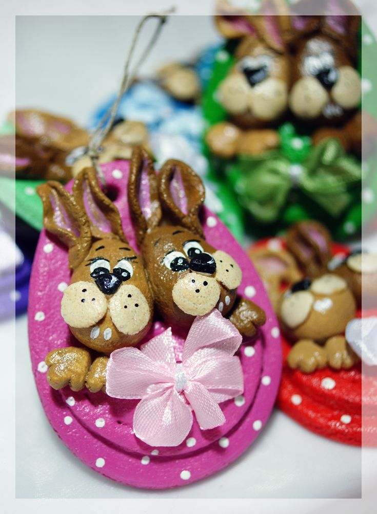 Salt Dough Easter Bunny Eggs