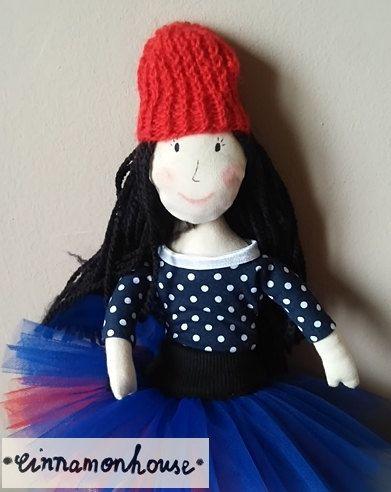 Ballerina  oryginal handmade doll in tulle skirt by cinnamonnhouse
