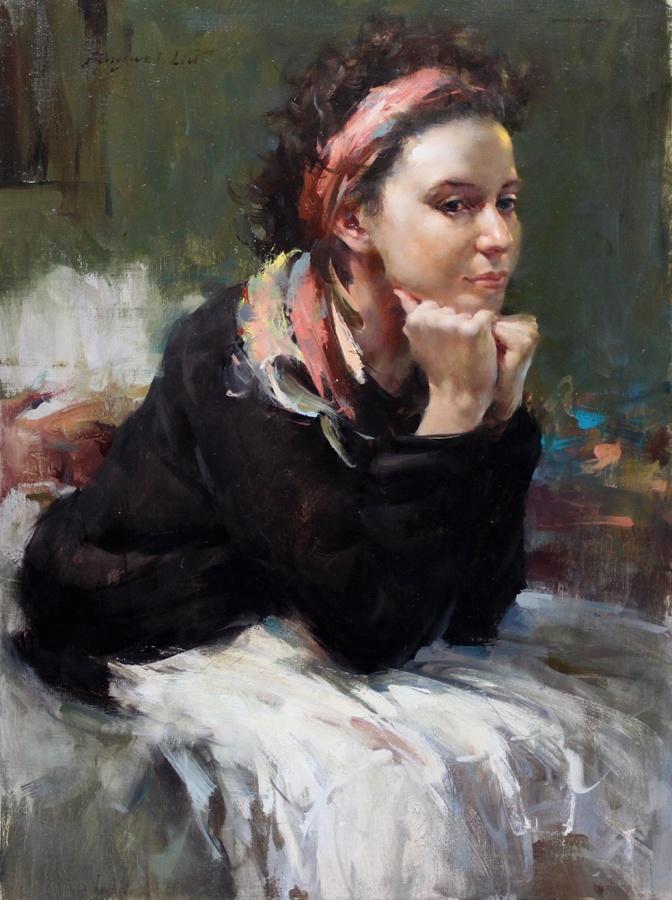 Fongwei Liu: oil portrait yes yes yes. Color.....