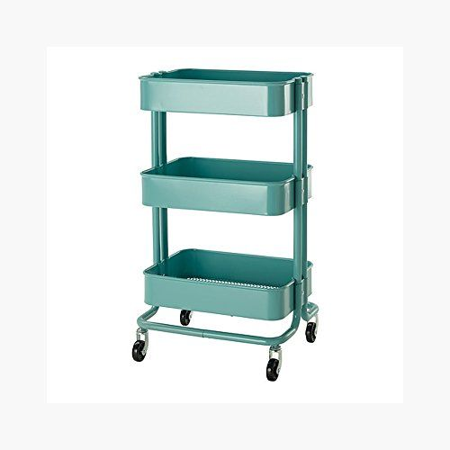 RASKOG Home Kitchen Bedroom Storage Utility Cart Turquoise. Shopswell | Shopping smarter together.™