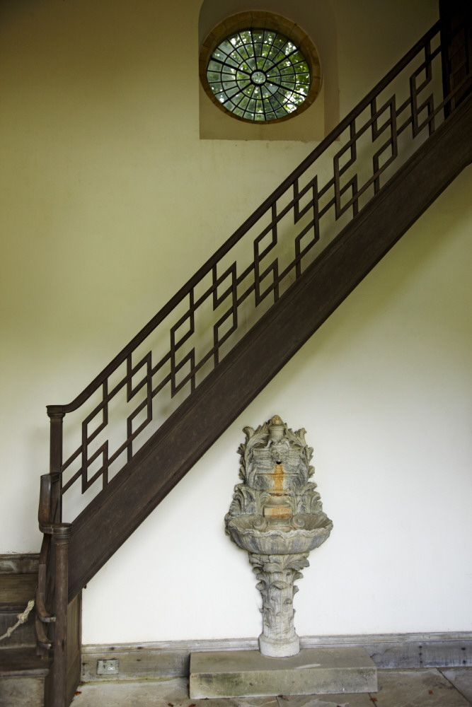 The chinoiserie staircase in the Pin Mill at Bodnant. National Trust Images/Arnhel de Serra...