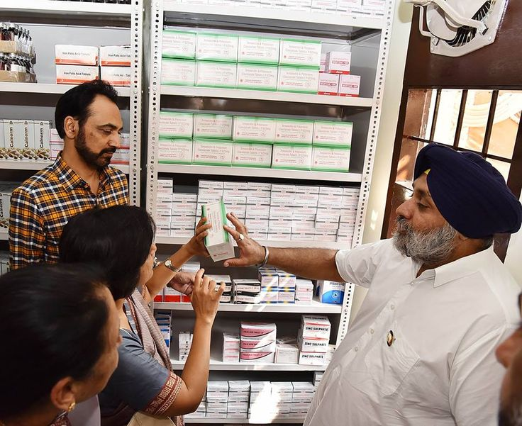 Dy CM Sukhbir Singh Badal inaugurated FREE Medicine Shops in the state yesterday.  #AkaliDal #ProgressivePunjab